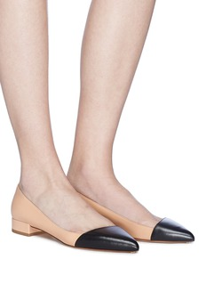 Francesco Russo Colourblock leather skimmer flats