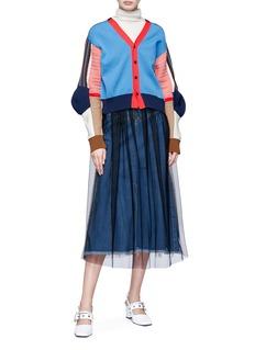 TOGA ARCHIVES Colourblock panel cardigan