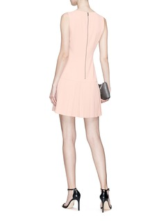 alice + olivia Pleated hem crepe dress
