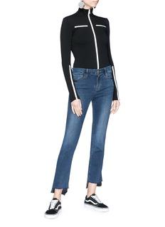 Frame Denim 'Le Crop Mini Boot' asymmetric cuff jeans