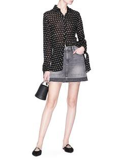 Frame Denim 'Rigid Re-Release' letout hem mini denim skirt