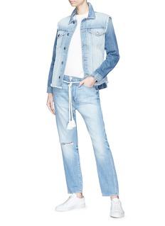 Frame Denim 'Le Reconstructed' frayed denim jacket