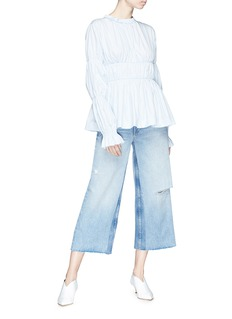 Frame Denim 'Le Reconstructed' cropped wide leg jeans
