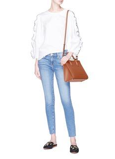 Frame Denim 'Le Skinny de Jeanne' staggered waist cropped jeans