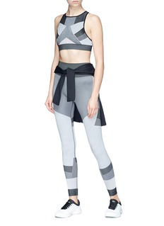 Alala 'Score' mix stripe colourblock leggings