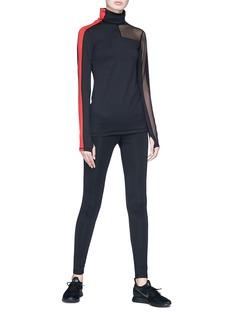 Alala 'Race' mesh panel long sleeve turtleneck T-shirt
