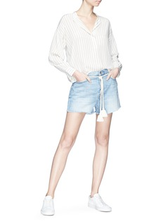 Frame Denim 'Le Original' tassel belt denim shorts