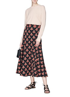 Temperley London 'Jupiter' floral jacquard midi skirt