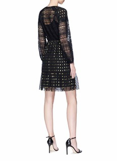 Temperley London 'Wondering' metallic dot fil coupé chiffon dress