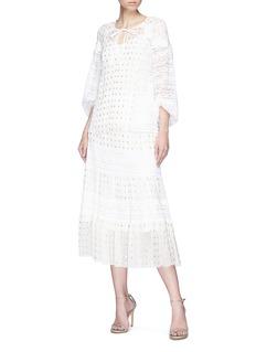 Temperley London 'Wondering' metallic dot fil coupé chiffon blouse