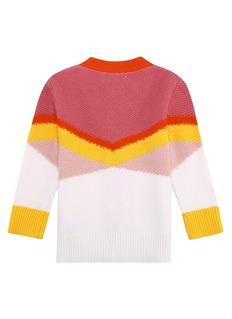 STELLA MCCARTNEY KIDS Betsy儿童款拼色条纹针织外套