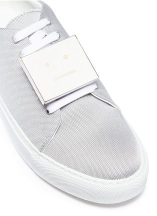 Detail View - Click To Enlarge - Acne Studios - 'Adriana' emoticon plate mesh sneakers
