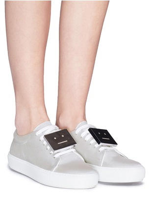 Figure View - Click To Enlarge - Acne Studios - 'Adriana' emoticon plate mesh sneakers