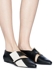 Mercedes Castillo 'Wilona' intrecciato vamp leather flats