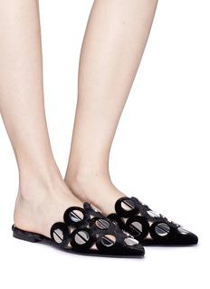 Mercedes Castillo 'Kris' nailhead stud velvet slides