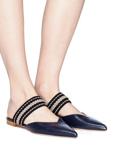 Malone Souliers 'Hannah' woven strap leather flats