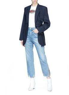3x1 'W4' split frayed cuff jeans