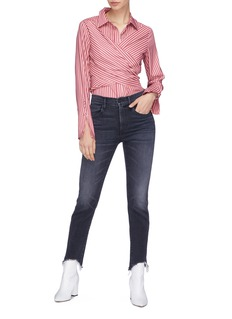 3x1 W3 Straight Authentic Crop须边露踝直脚牛仔裤
