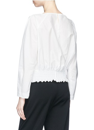Back View - Click To Enlarge - KUHO - 'Rohe' smocked waist poplin blouse