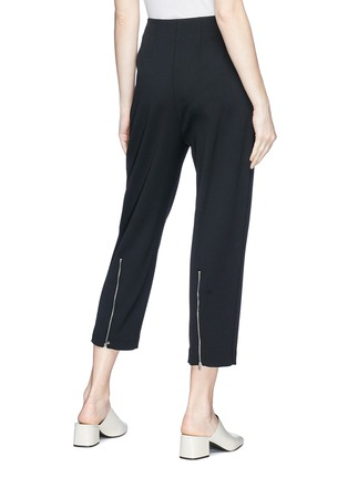 Back View - Click To Enlarge - KUHO - 'Lachaise' zip cuff cropped suiting pants