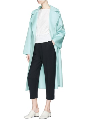 Figure View - Click To Enlarge - KUHO - 'Lachaise' zip cuff cropped suiting pants