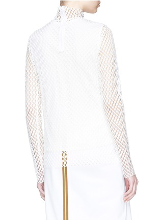 Back View - Click To Enlarge - KUHO - Mesh turtleneck top