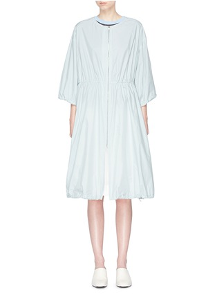 Main View - Click To Enlarge - KUHO - 'Richter' gathered waist windbreaker dress coat