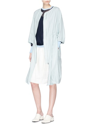 Figure View - Click To Enlarge - KUHO - 'Richter' gathered waist windbreaker dress coat