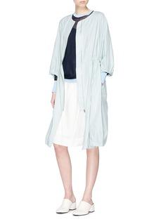 KUHO 'Richter' gathered waist windbreaker dress coat