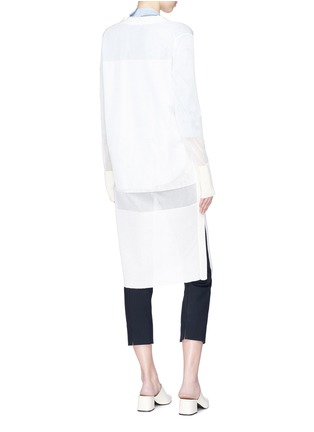 Back View - Click To Enlarge - KUHO - 'Mirror' sheer panel long cardigan