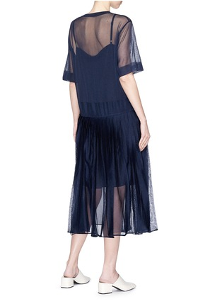 Figure View - Click To Enlarge - KUHO - 'Mirror' pleated knit dress