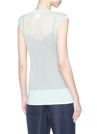 Back View - Click To Enlarge - KUHO - 'Mirror' rib knit sleeveless sweater