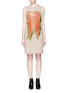 Acne Studios'Katja A Lurex' appliqué fleece lined dress