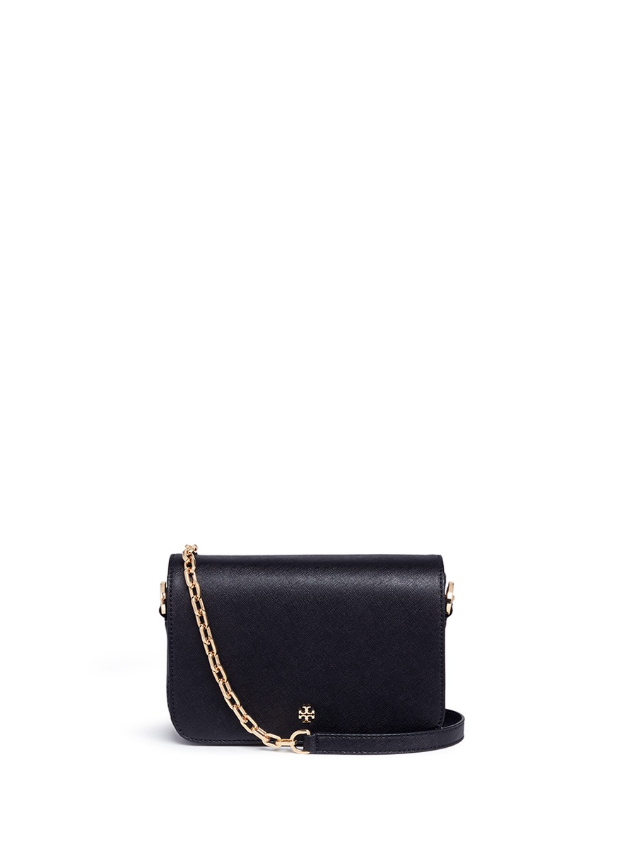 Robinson saffiano leather crossbody bag by Tory Burch