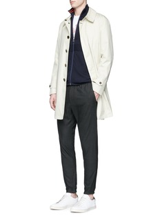 PS by Paul Smith Piqué panel cotton zip cardigan