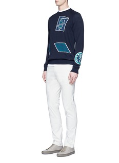 PS by Paul Smith Travel badge jacquard cotton sweater