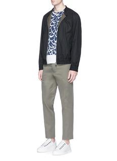 MarniCotton twill bomber jacket