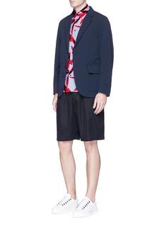 MarniElastic waist cotton twill shorts