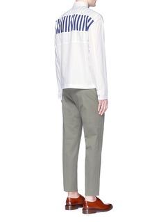 MarniStripe layered panel poplin shirt
