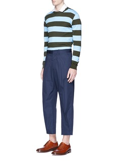 MarniContrast stripe cotton sweater