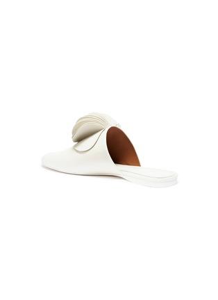 Detail View - Click To Enlarge - Mercedes Castillo - 'Malou' petal pompom leather slides