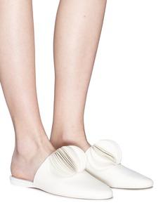 Mercedes Castillo 'Malou' petal pompom leather slides