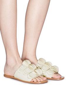 Mercedes Castillo 'Delphia' stacked petal leather slide sandals