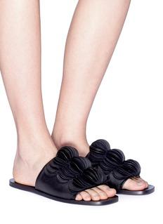 Mercedes Castillo 'Delphiia' 3D petal leather mule sandals