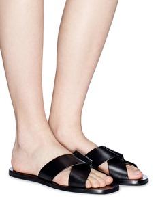 Mercedes Castillo 'Amelea' origami strap leather slide sandals