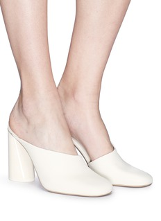 Mercedes Castillo 'Carlie' slanted leather mules