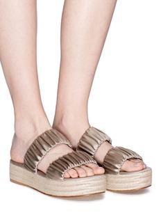 Mercedes Castillo 'Yolanda' satin espadrille platform sandals