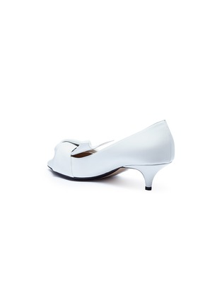 Detail View - Click To Enlarge - NO.21 - Bow leather pumps