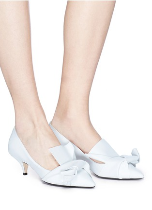 Figure View - Click To Enlarge - NO.21 - Bow leather pumps