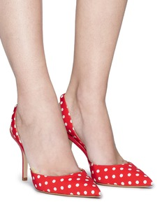 Paul Andrew 'Passion' polka dot print grosgrain slingback pumps